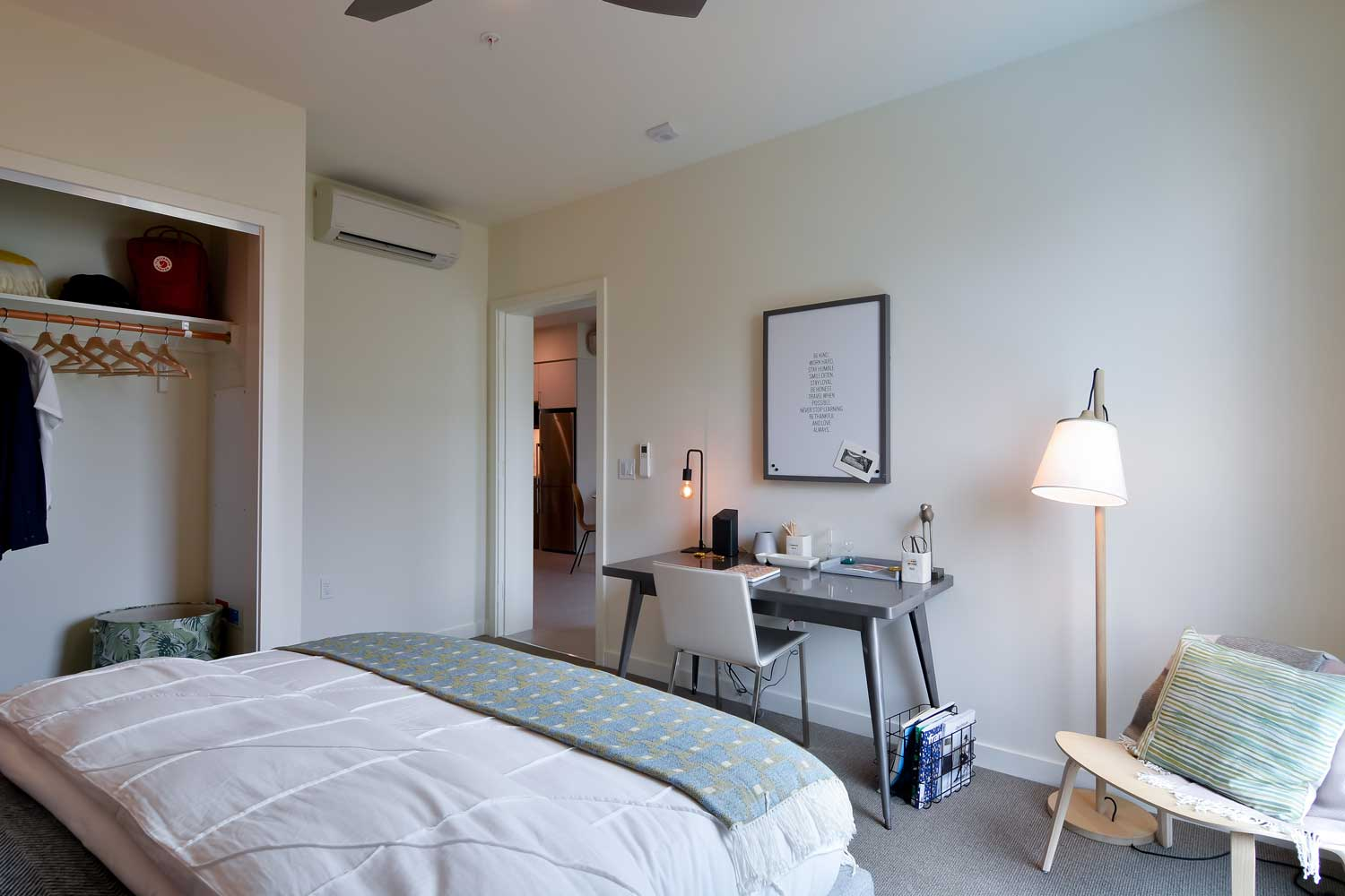 Luxury One Bedroom Apartments in Union City California - The Union Flats Bedroom