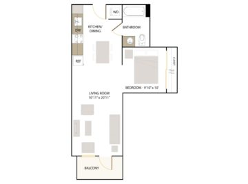 Apartment 245 floor plan
