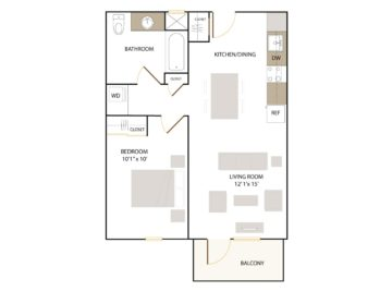 Apartment 107 floor plan