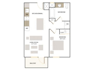 Rendering of the B2.2 floor plan layout