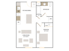 Apartment 319 floor plan