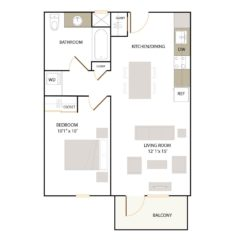 Apartment 305 floor plan